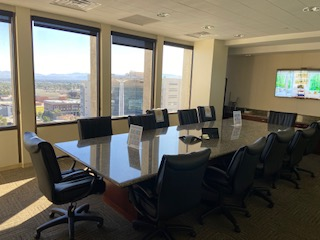a conference room in LawBank's new Las Vegas coworking space